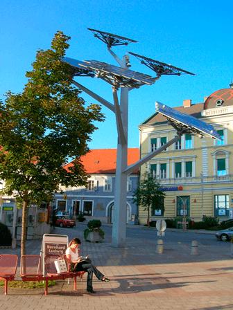 lamparas solares para parques