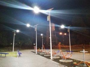 Proyecto de luminarias solares en parque recreativo - 2