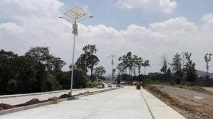 alumbrado publico con luminarias solares Hidalgo