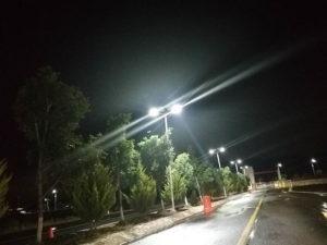 Proyecto de iluminación con luminarias solares en México
