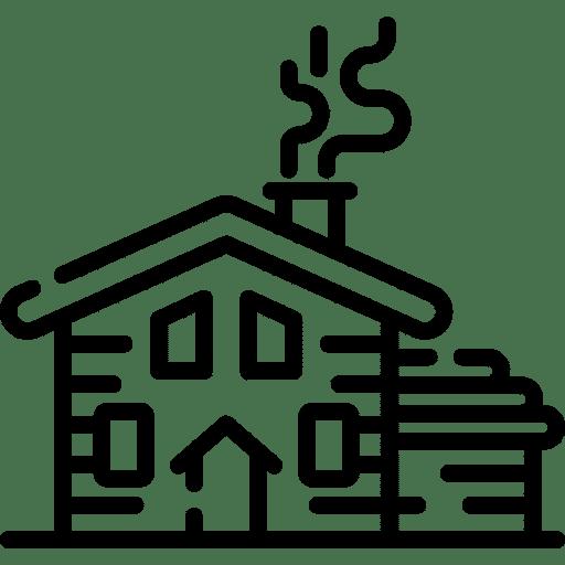 Cabañas y viviendas en zonas remotas